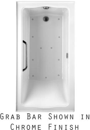 Toto ABR782R01YPNX Clayton Series Drop-In Airbath Tub with Acryclic Construction, Slip-Resistant Surface, and Polished Nickel Grab Bar, Cotton Finish