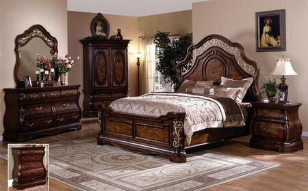 Yuan Tai SH2221K Shevon Series  King Size Poster Bed