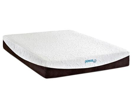 "Enso DENALI Enso 10"" Puregel Size Mattress with 3"" Tri-Tech Memory Foam, 2"" High Resilient Support Foam and 2"" PureGel Infused Memory Foam in White"