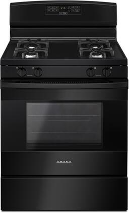 "Amana AGR6303MF 30"" Freestanding Gas Range with 4 Sealed Burners, 5.0 cu ft. Oven, Oven Lockout, Sabbath Mode, Extra Large Oven Window and Storage Drawer, in"