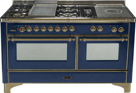 Ilve UM150FSMPBLY Majestic Series Dual Fuel Freestanding