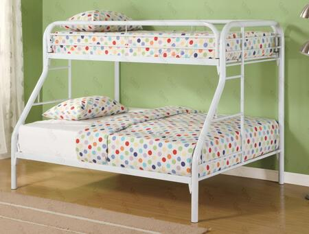 Glory Furniture G0017WHITE G0017 Series  Twin over Full Size Bunk Bed