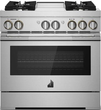 Jenn-Air JDRP536HL Rise Series 36 Inch Dual Fuel Convection Freestanding  Range