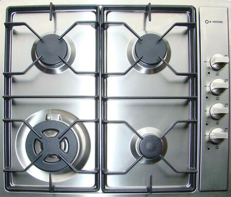 Verona VECTG424SS  Gas Sealed Burner Style Cooktop