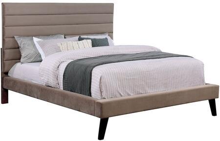 Furniture of America CM7676EKBED Janis Series  King Size Bed