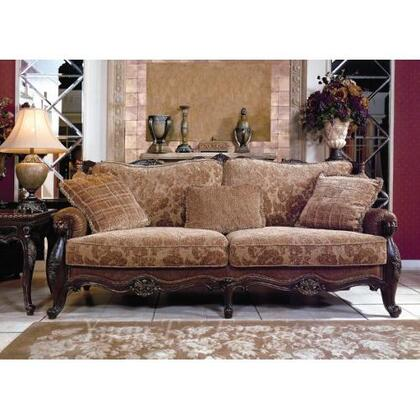 Yuan Tai MA1038L Madon Series Leather/Fabric Loveseat with Wood Frame Loveseat