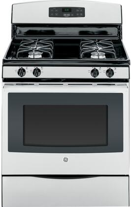 "GE JGB630 30"" Free-Standing Gas Range With 5.0 Cu. Ft. Oven Capacity, 4 Sealed Cooktop Burners, Precise Simmer Burner, In-Oven Broil, Self Clean, Storage Drawer, 2 Oven Racks, In"