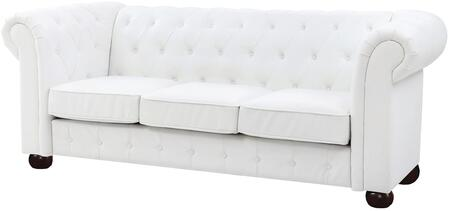 """Glory Furniture G490 Collection 92"""" Sofa with Tufted Back/Front Rail, Foam Encased Pocketed Coil Spring Seating,Dacron Wrapped Cushions and Faux Leather Upholstery in"""