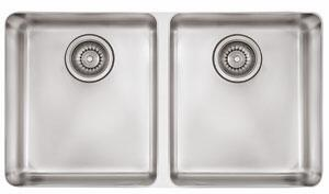 Franke KBX Kubus Series Undermount Double Bowl Sink in Stainless Steel
