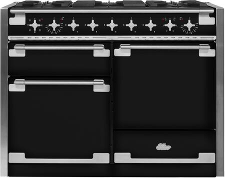 """AGA AEL48DF 48"""" AGA Elise Dual Fuel Range with 6 cu. ft. Oven Capacity, Convection Bake, Broiler, EasyClean Enamel, Sealed Burners, Interlocking Matte Cast Iron and Meta Hi Fi Style with Nitrile Grip, in"""