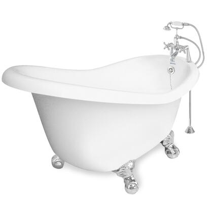 American Bath Factory T010B- Ascot Bathtub Faucet Package 1, Includes Faucet (F90A-CH) with Metal Cross Handles, Waste & Overflow Included: