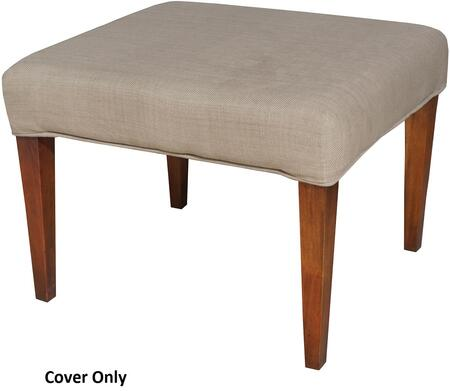 "Sterling Couture Covers Collection 24"" Single Bench Cover with Rectangular Shape, Piped Stitching  and Fabric Material"