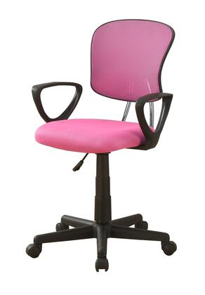 """Monarch I726OC 33"""" - 38"""" Office Chair with Mesh Fabric, Ergonomic Curved Backrest and Adjustable Height in"""