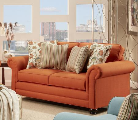 Chelsea Home Furniture 63223902 Trieste Loveseat with 8.5 Gauge Medium Loop Sinuous Wire Seat Springs, Toss Pillows, High Density Urethane Foam Cushions and Hardwoods in