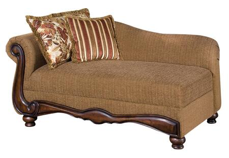 Acme Furniture 50312 Olysseus Series Traditional Fabric Wood Frame Chaise Lounge