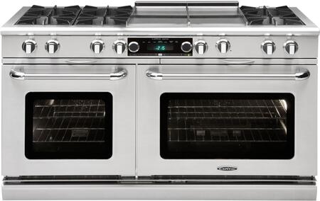 "Capital COB604GG2N 60""  Gas Freestanding Range with Open Burner Cooktop, 4.6 cu. ft. Primary Oven Capacity, in Stainless Steel"