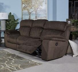 "Signature Design by Ashley Uhland 648015 88.6"" Power Reclining Sofa with Adjustable Headrest, Split Back Cushion, Piped Stitching, Pillow Top Arms and Fabric Upholstery in"