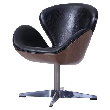 New Pacific Direct Template: Clayton Collection 6300043-274 Fabric Swivel Chair with Dark Walnut Frame in Flint Blue