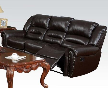 Acme Furniture 50285 Ralph Series Reclining Bonded Leather Sofa