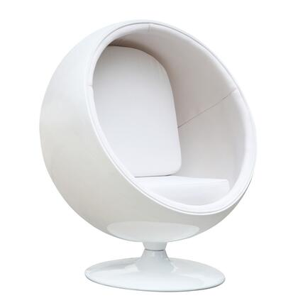 Fine Mod Imports FMI1150WHITE Ball Series Lounge/Armchair Fabric: 100% Wool Fiberglass Frame Accent Chair