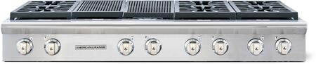 "American Range Legend Series ARSCT-606X2GR 60"" Sealed Burner Gas Rangetop With 6 Sealed Burners, Pro-Style, 22"" Grill, Fail-Safe System, Analog Controls and Electronic Ignition in Stainless Steel"