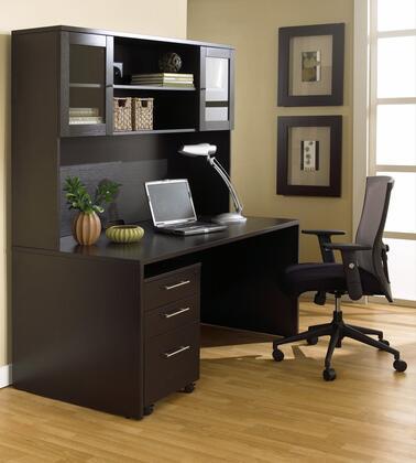 Unique Furniture 1C100007M Executive Office Desk with Hutch