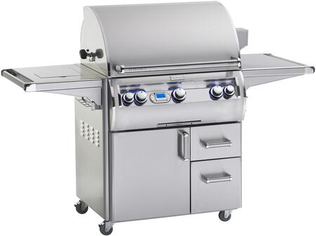 "FireMagic E790S-4E1x-62 80"" Echelon Diamond Series Cart with Grill, 96000 Total BTU, Single Side Burner, 792 Sq. In. Cooking Area and Digital Thermostat, in Stainless Steel"