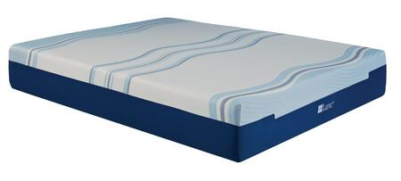 "Rest Rite IMGELL1012 Lane Cool Lux Liquid Gel Foam 12"" Mattress White and Blue Gel Memory Foam and Memory Foam"