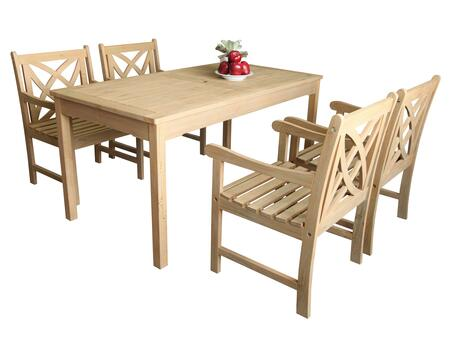Vifah V1701SET1 Rectangular Shape Patio Sets