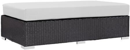 Modway EEI1847EXPWHI Convene Series Fabric Metal Frame Ottoman