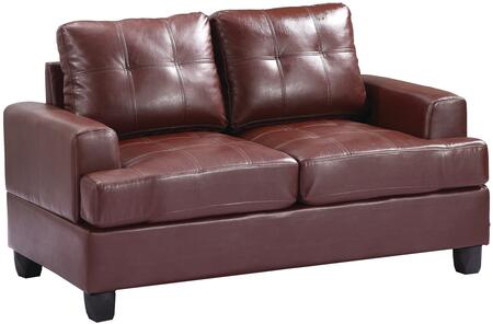 Glory Furniture G580AL Bycast Leather Stationary Loveseat