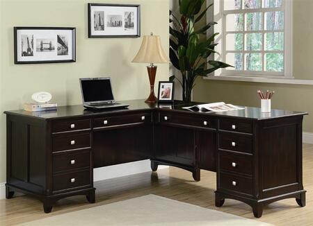 Coaster 801011 Transitional L-Shape Office Desk