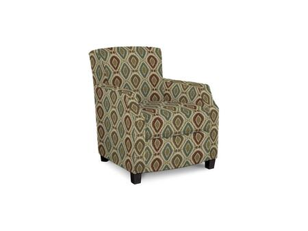 """Bassett Furniture Comiskey Connection 1149-02/BEx 28"""" Accent Chair with Fabric Upholstery, Tapered Wood Legs, Tight Back and Contemporary Style in"""