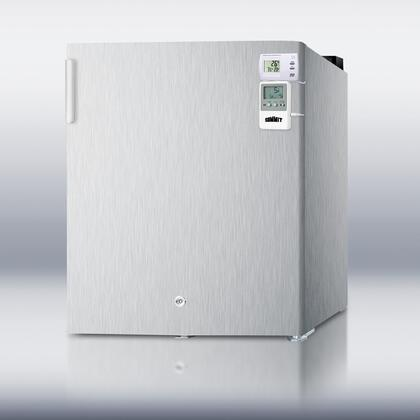 Summit FS22L7CSSMEDSC AccuCold Series  Freezer with 1.42 cu. ft. Capacity in Stainless Steel