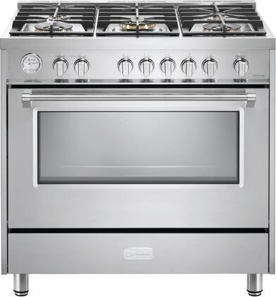 Verona Vdfsgg365ss Designer Series 36 Inch Stainless Steel Gas Convection Freestanding Range