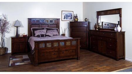 Sunny Designs 2322DCKBDMNC Santa Fe King Bedroom Sets
