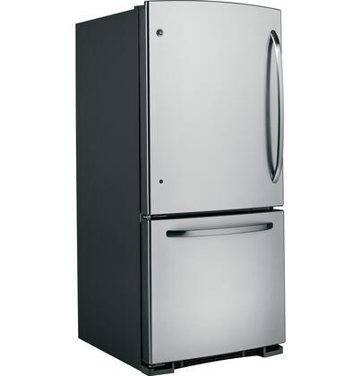 GE GBSL0HCXLLS  Bottom Freezer Refrigerator with 20.3 cu. ft. Total Capacity 6.2 cu. ft. Freezer Capacity 3 Glass Shelves