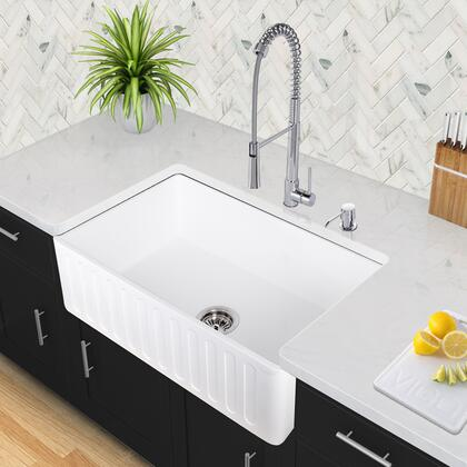 Vigo VGRAXX18CS Stone Farmhouse Sink