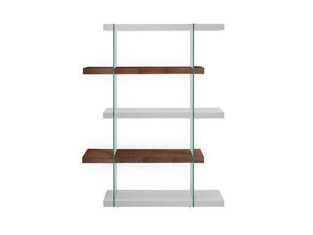 Casabianca CB111WHWALBKS Il Vetro Series Wood 3-4 Shelves Bookcase