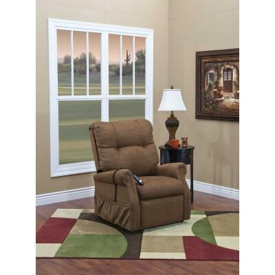 MedLift 1155DBR Traditional Vinal Wood Frame  Recliners