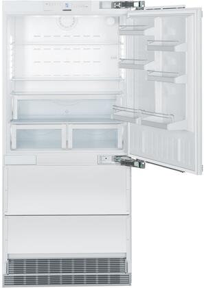 "Liebherr HC2060 36"" Counter Depth Bottom Freezer Refrigerator with 19.4 cu.ft. Total Capacity 6 cu.ft. Freezer Capacity 2 Glass Shelves"