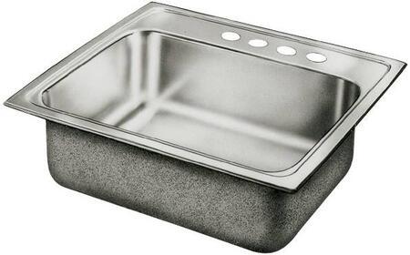 """Elkay LRQ2522 25"""" Top Mount Self-Rim Single Bowl 18-Gauge Stainless Steel Sink"""