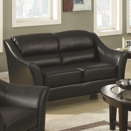 Coaster 504532 Sawyer Series Bonded Leather Stationary with Wood Frame Loveseat
