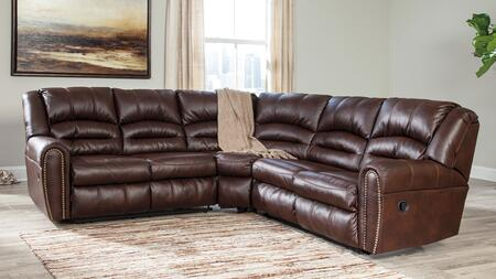 Signature Design by Ashley Manzanola 5120X4849 Sectional Sofa with Left and Right Arm Facing Loveseat, Nail-Head Trim Accents and Plush Divided Backs in