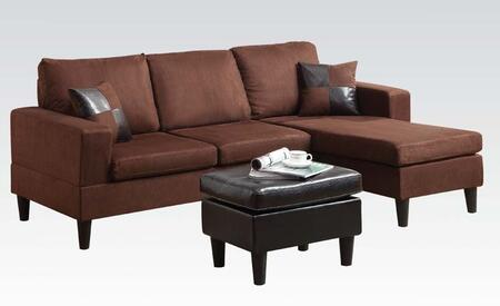 Acme Furniture 15900 Robyn Series Sofa and Chaise Microfiber Sofa