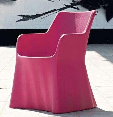 Domitalia PHANTOMP000PERO Phantom Series  Plastic Frame  Patio Chair