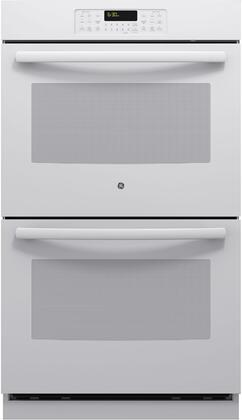 "GE JT3500DFWW Oven Only Double Electric 10 cu. ft. Capacity Digital 30"" No Wall Oven 