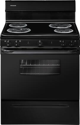 "Frigidaire FFEF3009PB 30""  Electric Freestanding Range with Coil Element Cooktop, 4.2 cu. ft. Primary Oven Capacity, Storage in Black"