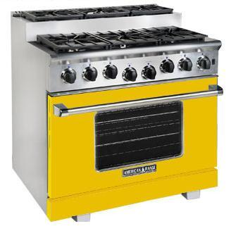 American Range ARR366SYW Titan Series Gas Freestanding Range with Sealed Burner Cooktop, 5.6 cu. ft. Primary Oven Capacity, in Yellow
