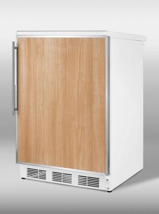 Summit FF6FR FF6 Series Freestanding Counter Depth Compact Refrigerator with 5.5 cu. ft. Capacity, 3 Wire Shelves